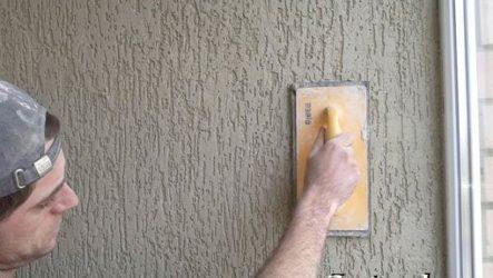 Штукатурка короед – оригинальная отделка для стен и фасадов домов