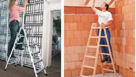 Стремянка лестница. Виды, применение и цена стремянки