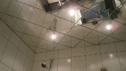 Зеркальный потолок, его преимущества и недостатки